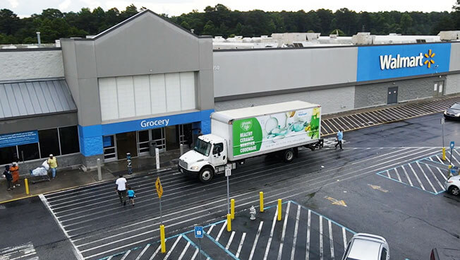 Truckside Advertising for Walmart and The Cookware Company in Atlanta
