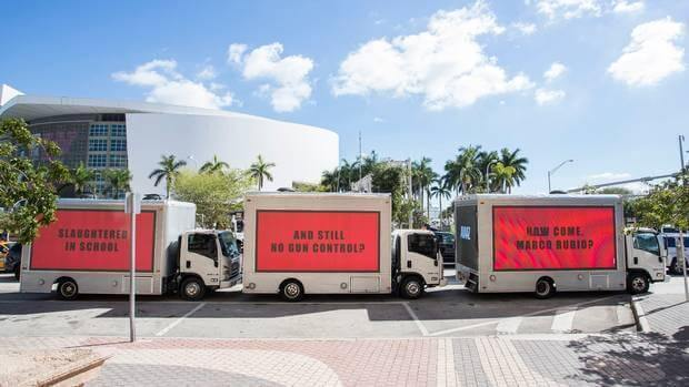 Mobile Billboard Mobile makes people think twice with their truck displays