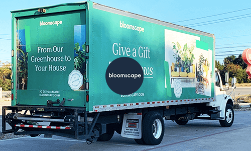 Bloomscape Mobile Billboard advertising campaign in Austin campaign video for Holiday Season