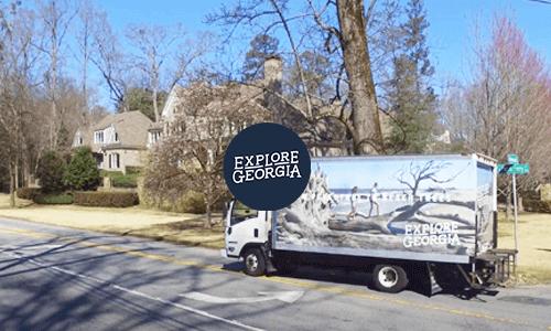 Explore Georgia truckside advertising campaign in Atlanta campaign video